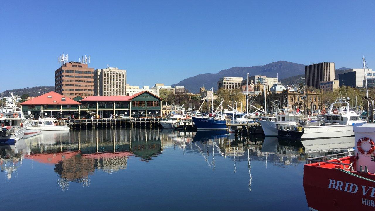 Hobart docks.