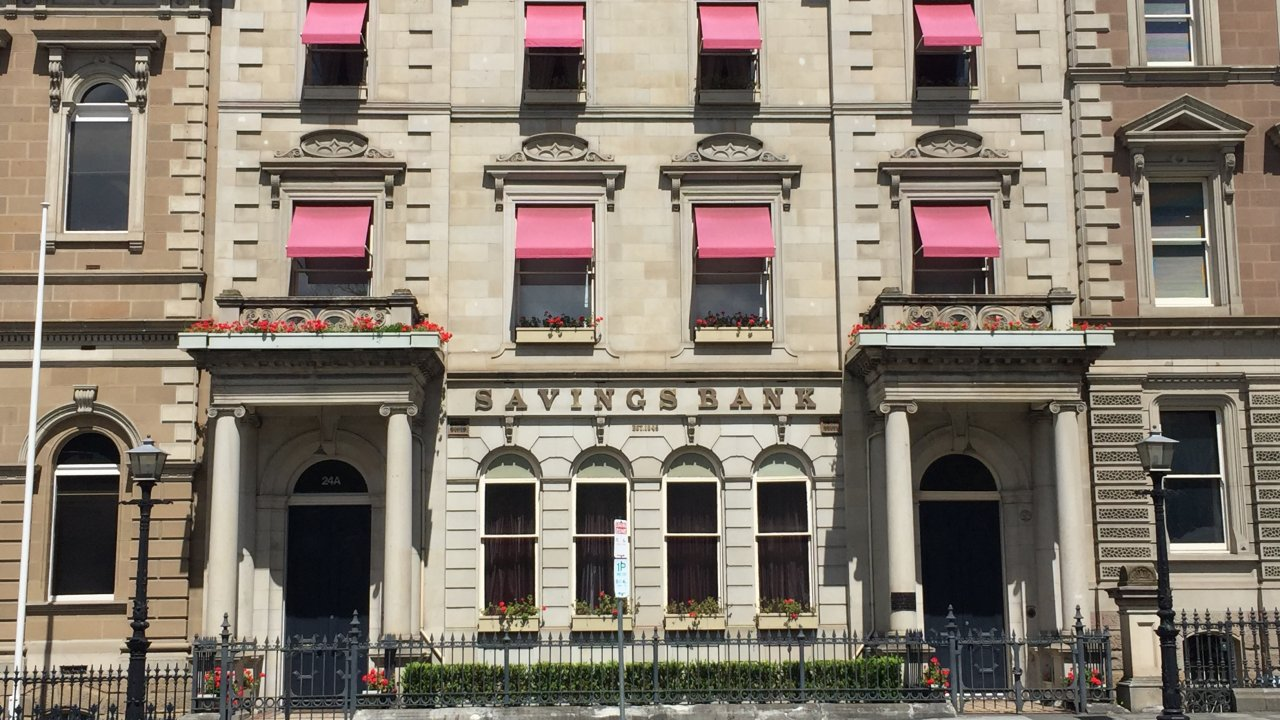 Famous red awnings