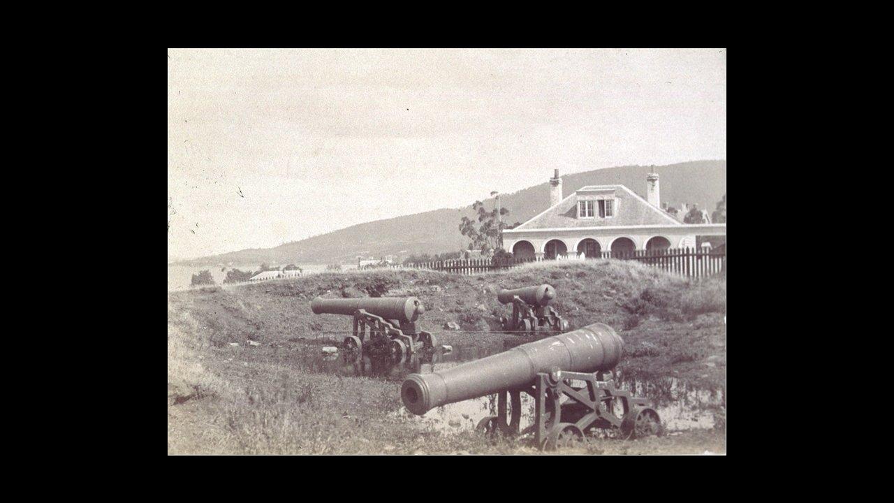 The gun battery, 1889