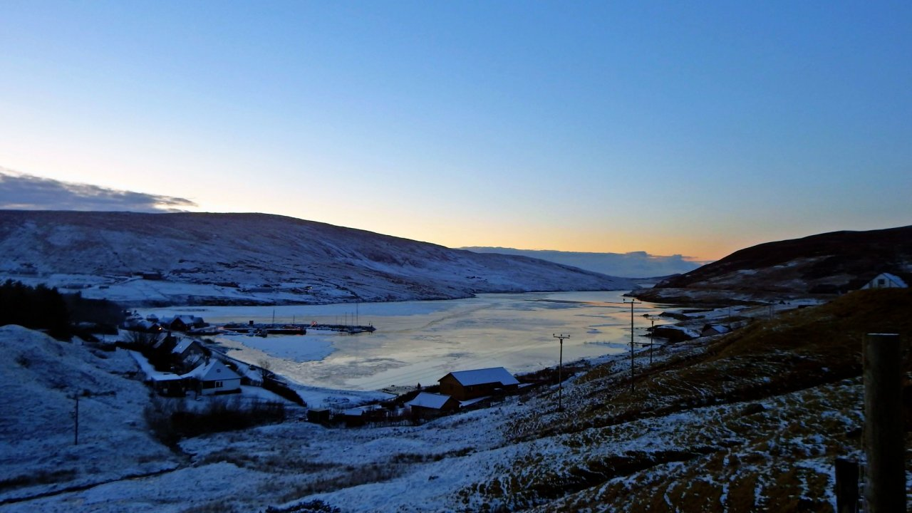 Winter sunset, Voe