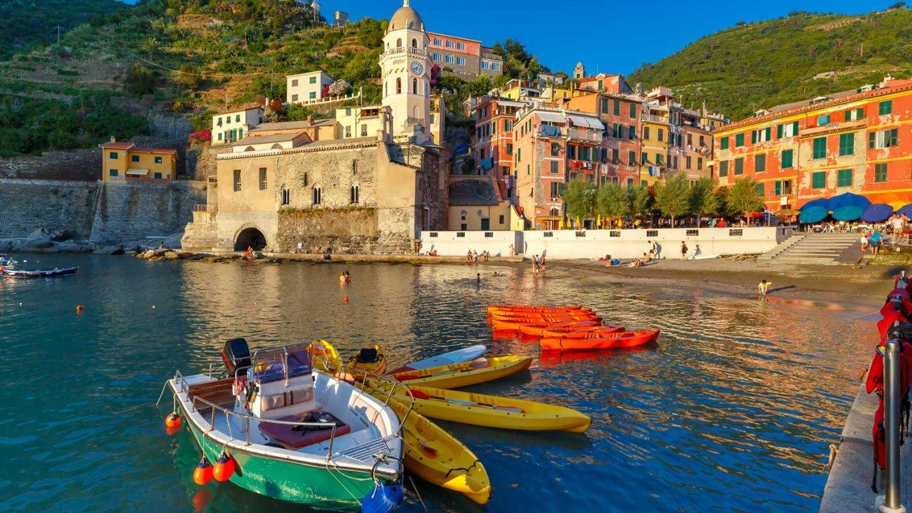 Boating in Vernazza