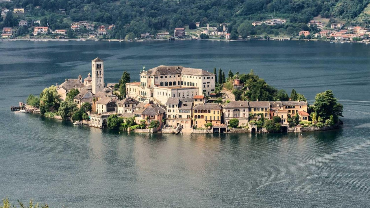 Village of Orta-San Giulio in Lake Orta